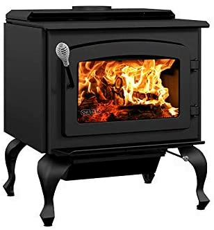 Drolet Black Stag II Extra Large 2020 EPA Certified Wood Stove - 90,000 BTU - 2,300 sq. ft, Model# DB03411
